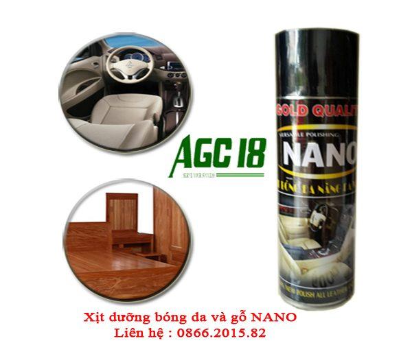 Xịt dưỡng bóng da và gỗ NaNo