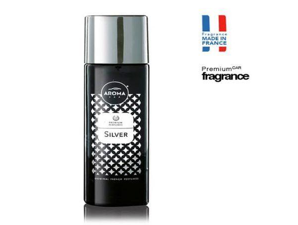 Nước hoa dạng xịt Aroma Car Prestige Spray - Mùi Silver -Tặng kèm lá thơm giữ mùi