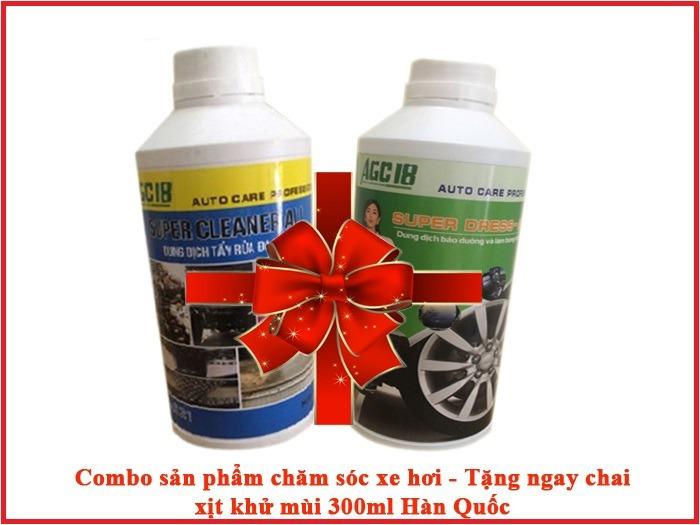 Combo sản phẩm chăm sóc xe hơi AGC