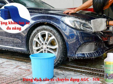 Tặng khăn lau xe khi mua Dung dịch rửa xe chuyên dụng 516