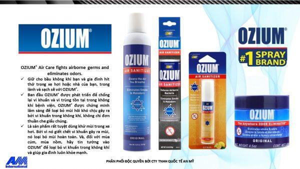 Bình xịt khử mùi Ozium mùi Vanilla 3.5 oz
