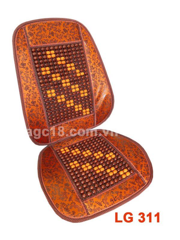 Lót ghế hạt gỗ cao cấp LG - 311