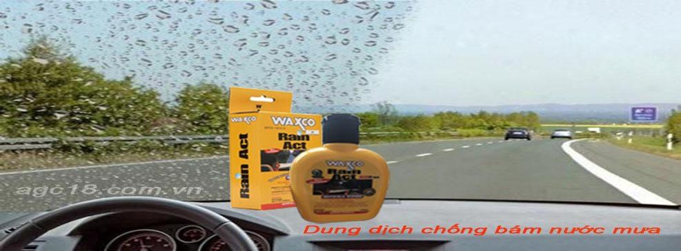 chống bám nước mưa Waxco 125ml